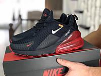 Мужские кроссовки Nike Air Max 270,сетка,темно синие с красным