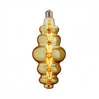 """Лампа филаментная LED """"ORIGAMI"""" 8W Horoz E27 (2400K) Amber., фото 1"""
