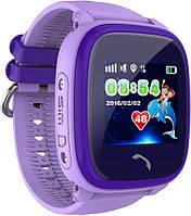 Водонепроницаемые детские часы UWatch DF25 c GPS трекером Purple