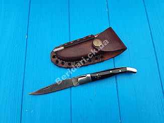 Нож  складной из дамасской стали  s -5