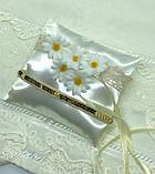 Новая свадебная подушка для колец ромашки, фото 2