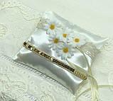 Новая свадебная подушка для колец ромашки, фото 5