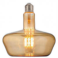 "Лампа филаментная LED ""GINZA-XL"" 8W Horoz E27 (2400K) Amber."