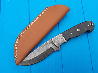 Нож охотничий из дамасской стали рукоять рог буйвола  dc-65