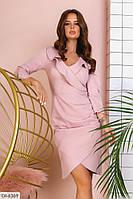 Модное деловое платье по фигуре арт 1106