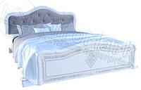 Кровать двухспальная с подъемным механизмом Луиза Люкс / Luiza Lux MiroMark 160х200 белый глянец