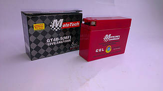 Аккумулятор 2.3A/12V MOTOTECH GEL узкий