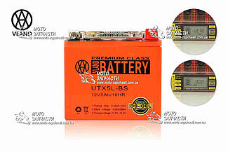 Аккумулятор 5A/12V DS-iGEL высокий VLAND вольтметр
