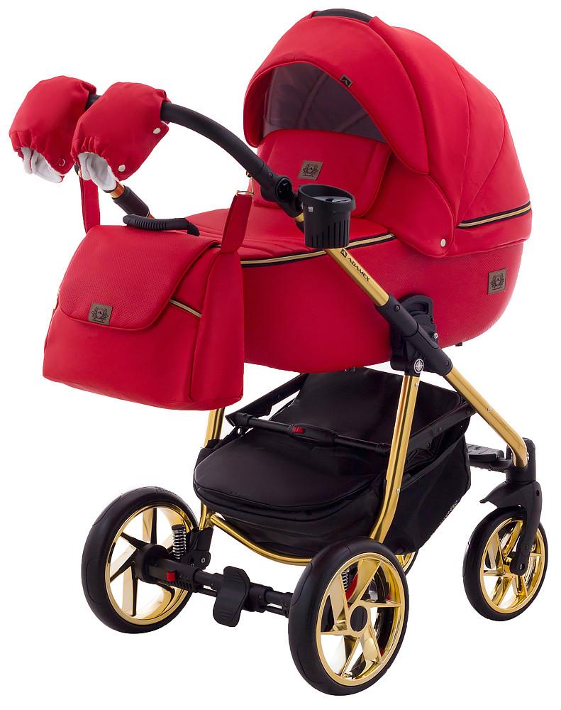 Дитяча коляска 2в1 Adamex Hybryd Plus Polar (Gold) BR313 Червоний
