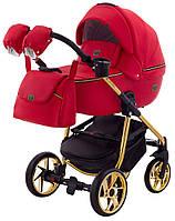 Дитяча коляска 2в1 Adamex Hybryd Plus Polar (Gold) BR313 Червоний, фото 1