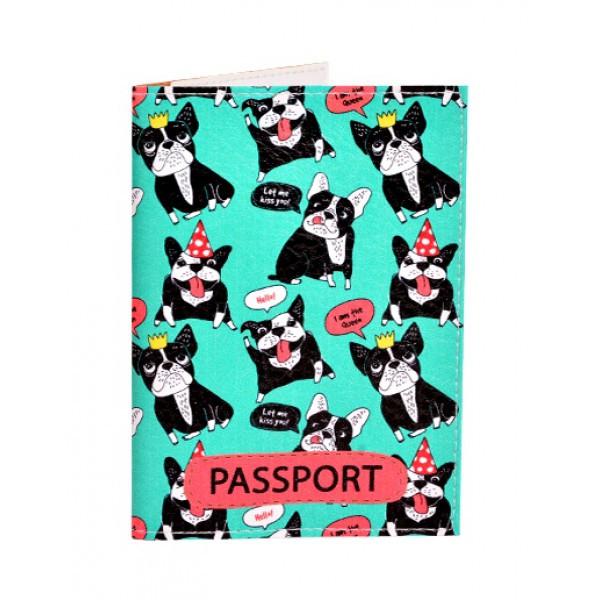 Обложка для паспорта Французские бульдоги