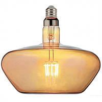 "Лампа филаментная LED ""GINZA"" 8W Horoz E27 (2400K) Amber."