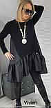 Платье женское свободное чёрное , серое Размеры: 48-52 ,54-58, 60-64, фото 5