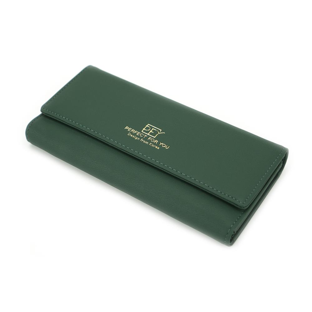 Женский Кошелек Портмоне на Кнопке для Карточек Weichen (A6901-007) Зеленый