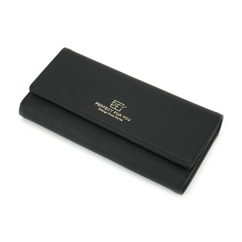 Женский Кошелек Портмоне на Кнопке для Карточек Weichen (A6901-007) Черный