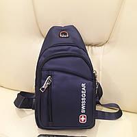 Рюкзак Swiss на одно плечо blue
