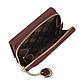Женский Кошелек Бумажник Маленький на Молнии для Карточек Weichen (С577-52) Бордовый, фото 7