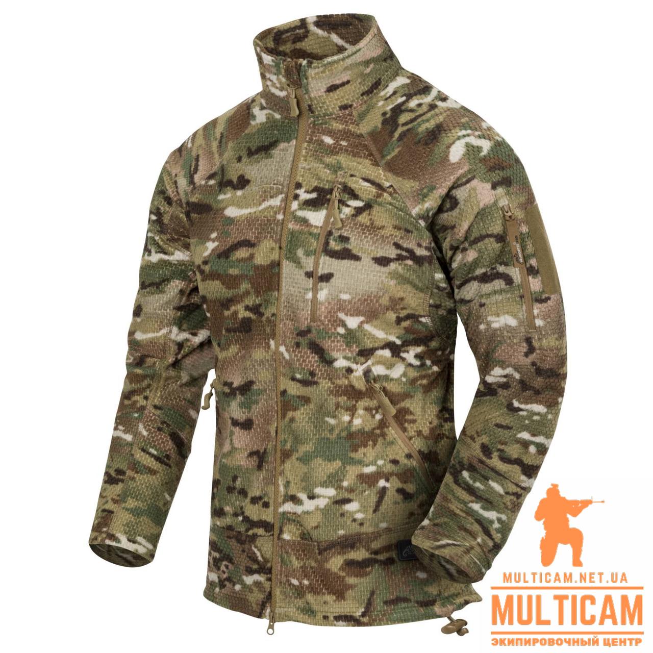 Куртка флисовая Helikon-Tex® ALPHA Jacket - Grid Fleece - Camogrom®