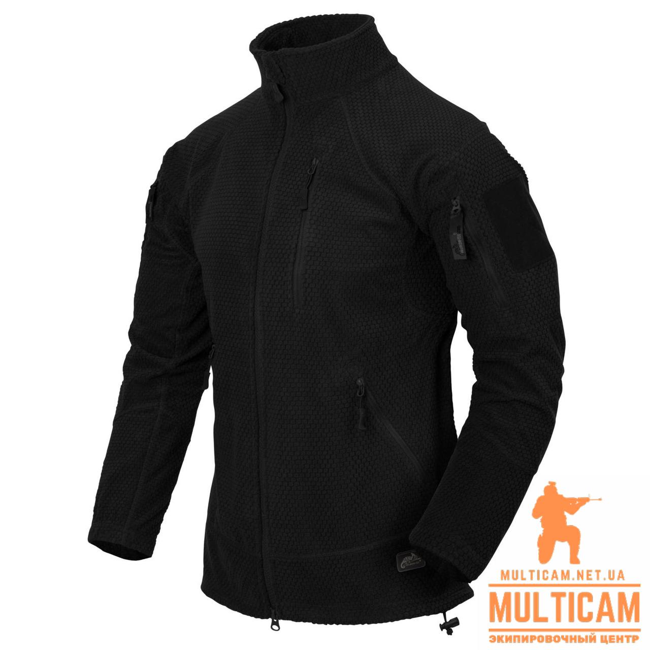 Куртка флисовая Helikon-Tex® ALPHA Jacket - Grid Fleece - Black