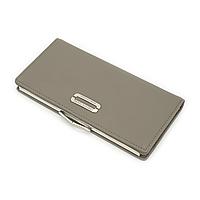 Женский Кошелек Портмоне на Кнопке для Карточек Weichen (LAB7519-4) Серый