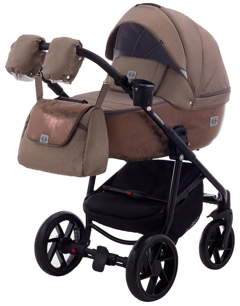 Дитяча коляска 2в1 Adamex Hybryd Plus BR279 Капучіно (мрамор)