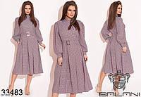 Романтическое платье клеш с карманами арт 506