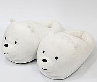 Тапочки Медведи белые детские, 25-30