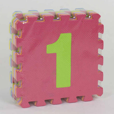 Коврик-пазл EVA С 36605 Цифры (24) 9шт в упаковке, 30х30см, фото 2