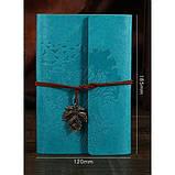 Винтажный блокнот Древо жизни. Голубой, фото 3