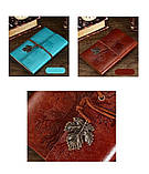 Винтажный блокнот Древо жизни. Голубой, фото 2