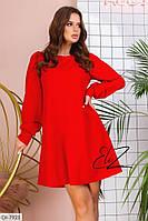 Стильное платье свободного кроя арт 4021
