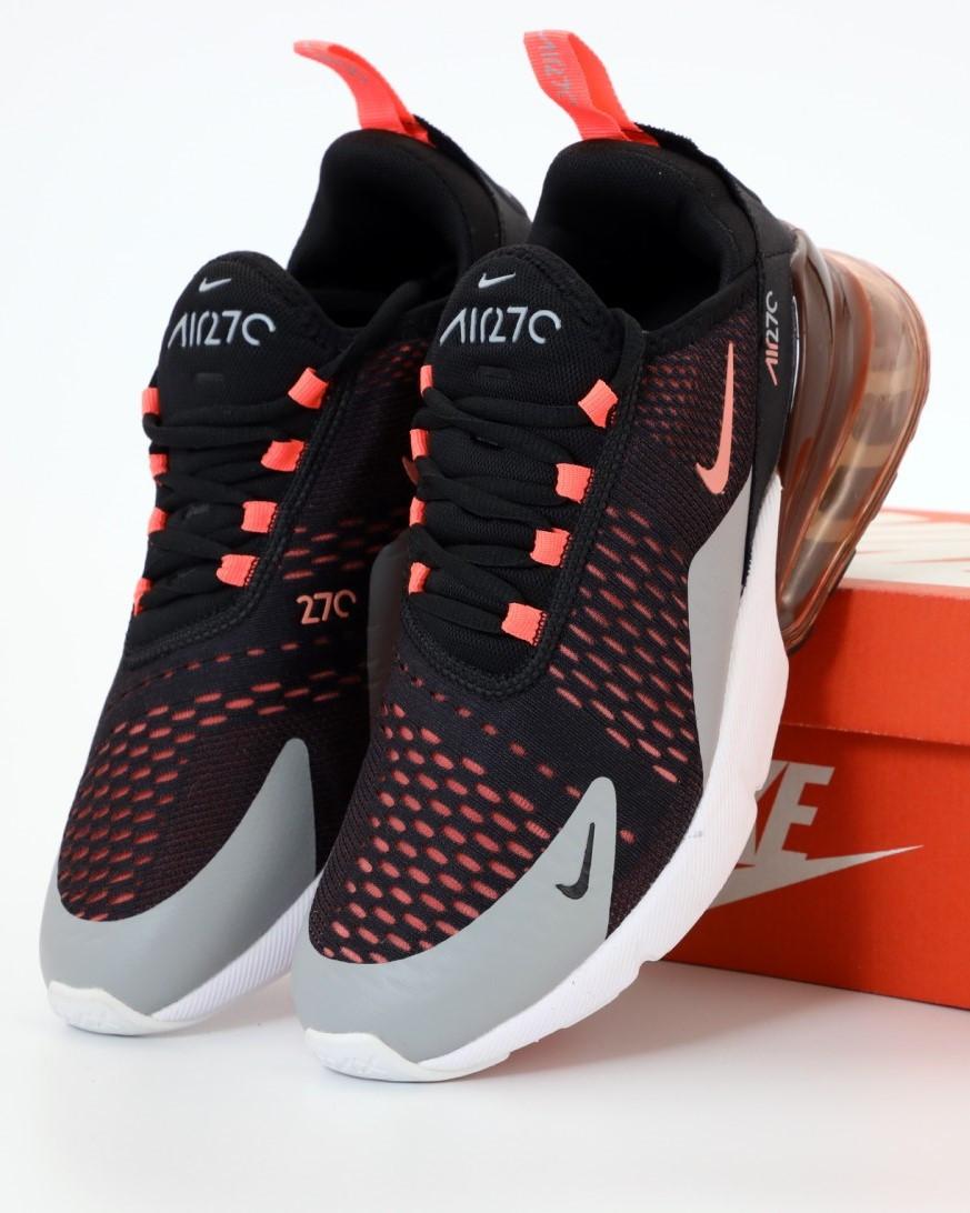 Мужские кроссовки Nike Air Max 270 Black, Найк Аир Макс 270 черные