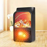Электрический мини-обогреватель Flame Heater с LCD-дисплеем и пультом управления, фото 1