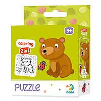 Пазлы для детей DoDo 2в1 Медвеженок 300120