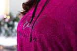Свитшот женский тёплый, Размеры, 48-50,52-54,56-58,60-62, Цвет: Бежевый, красный, шоколадный, небесно голубой,, фото 6