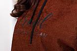 Свитшот женский тёплый, Размеры, 48-50,52-54,56-58,60-62, Цвет: Бежевый, красный, шоколадный, небесно голубой,, фото 7