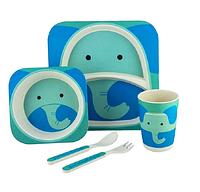 Набор детской посуды из бамбука - Слон