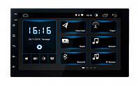 """Автомобильная 2 диновая магнитола с задней камерой, навигатором Junsun Quad Core 7 """"2 Din Android 6.0"""