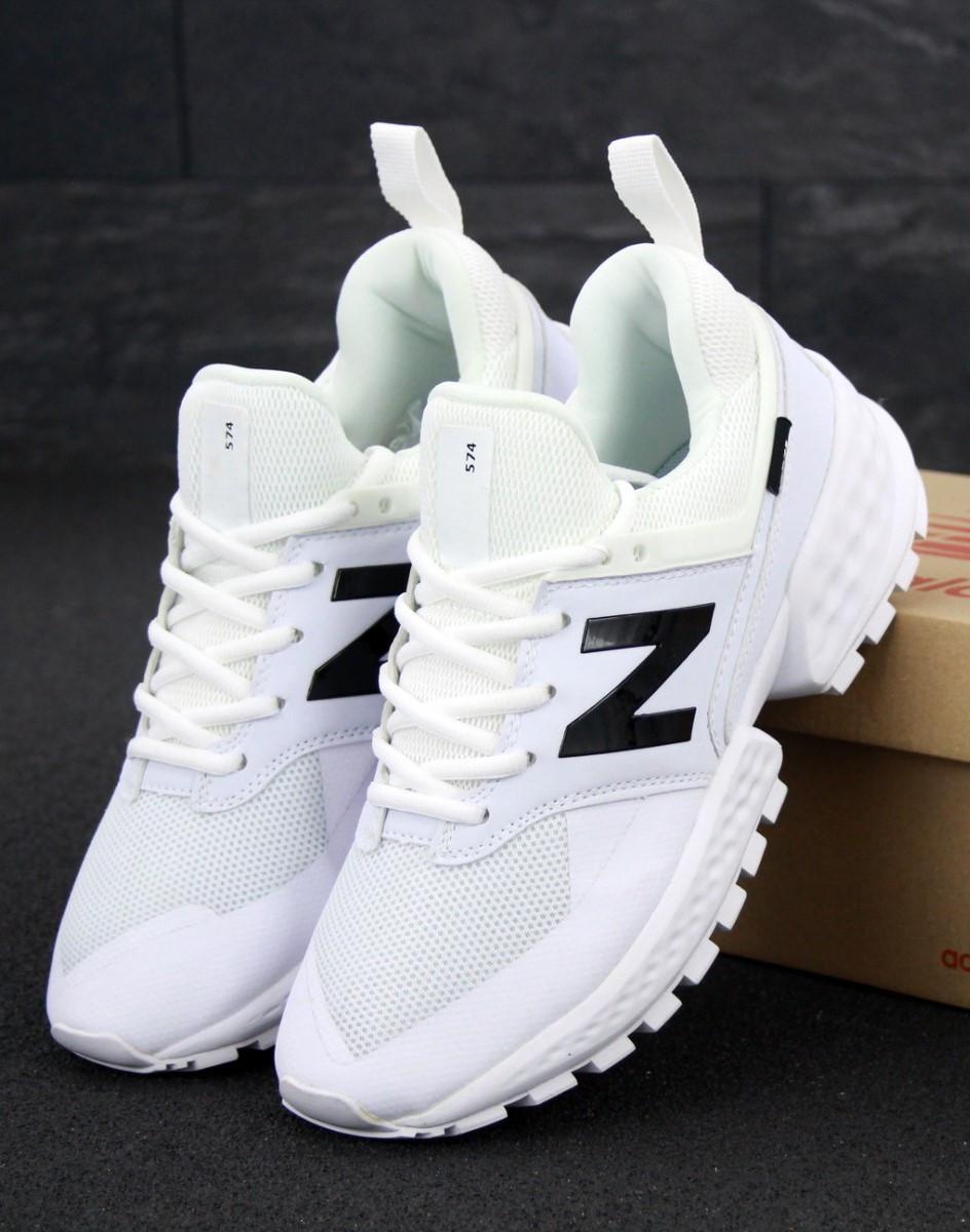 Мужские кроссовки New Balance 574 Sport v2 White (нью беленс белые)