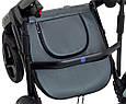 Коляска 2 в 1 Bair Mirello Plus кожа 100% MP-33 графит перламутр - черный, фото 9