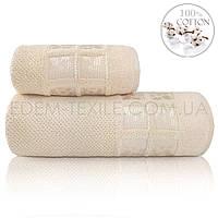 Махровое мягкое полотенце Турция Sikel Twoel, Бежевый, 50х90