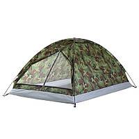 Портативная камуфляжная кемпинговая палатка для 2 - х  Легкая 200см х 130см х 110см 1,2кг