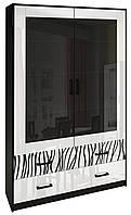 Витрина 2Д Терра / Terra MiroMark черный / белый глянец