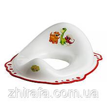 Накладка на унитаз Maltex DINO 5961 нескользящая  white with red rubbers