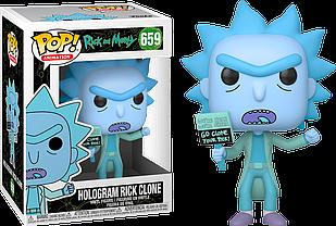 Фигурка Funko Pop Фанко Поп Рик и Морти Клон Рика Rick And Morty Hologram Rick Clone 10 см RM HR 659
