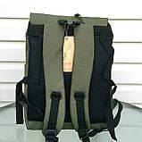 Вместительный мужской рюкзак, повседневный, городской, для ноутбука 15,6, спортивный хаки, фото 5