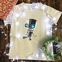 Мужская футболка с принтом - Робот