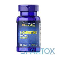 L-Карнитин Puritan's Pride L-Carnitine 500 mg (60 caplets )