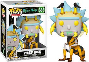 Фигурка Funko Pop Фанко Поп Рик и Морти Оса Рик Rick And Morty Wasp Rick 10 см RM WR 663