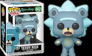 Фигурка Funko Pop Фанко Поп Рик и Морти Мишка Рик Rick And Morty Teddy Rick 10 см RM TR 662